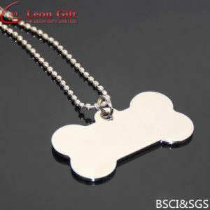 Modifica di cane in bianco Polished della collana di alta qualità all'ingrosso dell'acciaio inossidabile