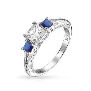 方法宝石用原石の宝石類925の純銀製のリング