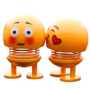 Venda por grosso Sorriso Emoji emoção brinquedo cabeça de Agitação Emoji Doll Fashion Bobble Head Carro Doll