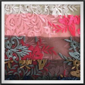 女性のためのDress敏感な花の刺繍のレースファブリック