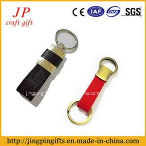 Cuoio personalizzato accolto favorevolmente Keychain di modo