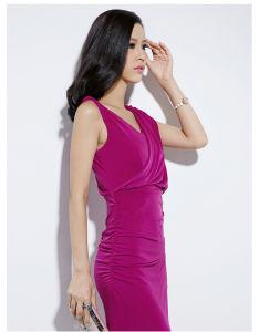 Mais novo partido de cor rosa moda vestido de mulher