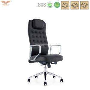 Oficina silla de cuero con respaldo alto