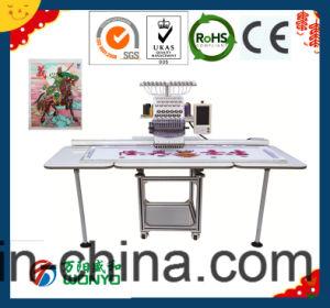 スパンコールによってコンピュータ化されるビードおよび束ねる刺繍機械