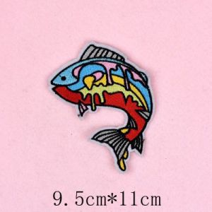 Colorida parche bordado de la moda, monograma