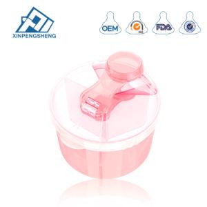 Baby PP Boîte de lait en poudre avec trois treillis de poudre de lait pour bébé conteneur en plastique