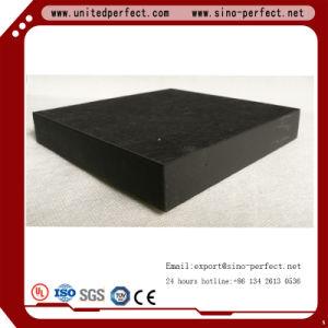 Materiales de decoración panel acústico de fibra mineral de color negro