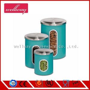 [3-بيس] عشّق معدن عليبة تخزين مجموعة, زرقاء