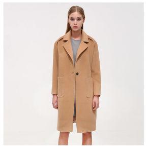 Moda Padrão longo Inverno Mulheres Cashmere Coat
