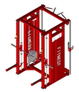スミスマルチ機能ラック商業ボディービルの体操の適性装置のCrossfitの装備