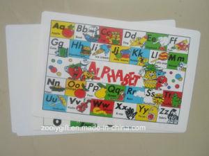 A a Z Alfabeto Placemat de plástico PP para crianças