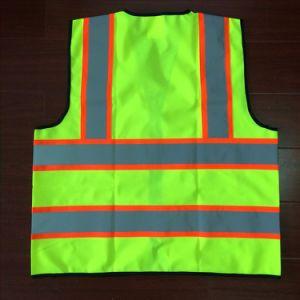 Les normes ANSI fluorescent haute visibilité en étoffe de bonneterie Ruban réfléchissant Gilet de sécurité