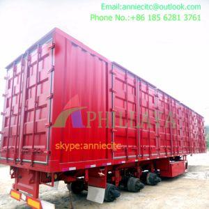 Recipiente Tri-Axle Multifunções a caixa de carga semi reboque
