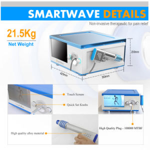 De onda acústica Shockwave dispositivo terapéutico (BS-SWT5000)