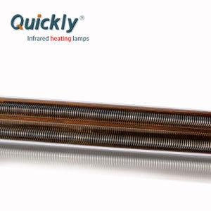 220V 2000W reflector de ouro da lâmpada de infravermelhos de tubo duplo aquecimento infravermelho
