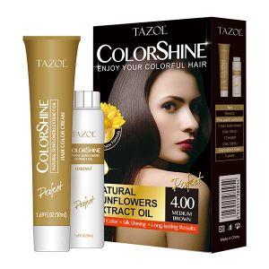 De Kleur van het Haar van Colorshine van de Zorg van het Haar van Tazol (Middelgrote Bruin) (50ml+50ml)