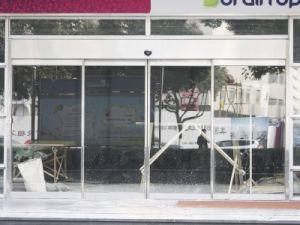 Puerta corrediza de vidrio automática de entrada
