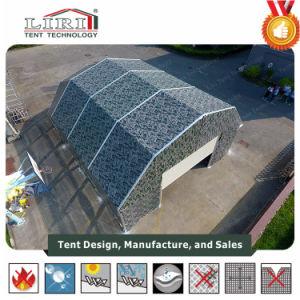 高品質のアルミニウムフレームおよび緑PVC屋根カバーが付いている軍の軍隊のテント