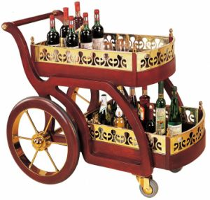 Klassisches Wooden Liquor Trolley für Hotel und Restaurant Banquet (C-52)