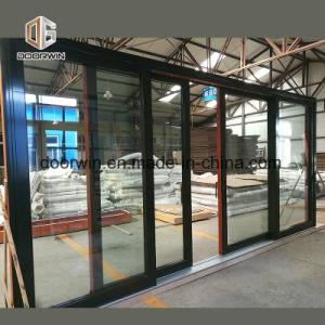 Tamanho personalizado de madeira maciça revestido de alumínio janela desliza, madeira de alumínio da estrutura da janela de correr pela janela de alumínio de madeira Company