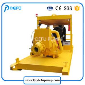 Les boues de transfert de boue de sable de la pompe à eau centrifuge avec moteur Diesel