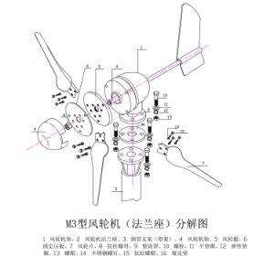 Su uso en casa Mini Aerogenerador 12/24V M3 tipo 400W