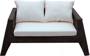 Sofá de vime ao ar livre do Rattan da mobília