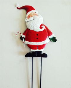 De in het groot OpenluchtDecoratie van de Kerstman van het Metaal van de Mensen van Kerstmis