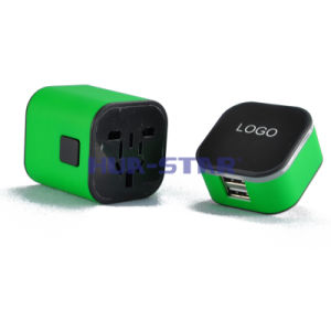 Adaptador de viaje con un cargador USB (HS-T106DU)