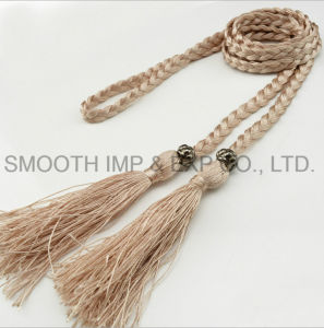 Comercio al por mayor ropa de mujer moda accesorios de decoración de la correa de Borla Vestido Textil