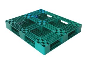 Gridding 6개의 주자는 HDPE 빨간 다채로운 플라스틱 표준 깔판 크기를 재생했다