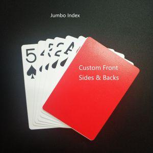 Papel do Núcleo Preto personalizados/plástico jogando cartas com projetos pessoais