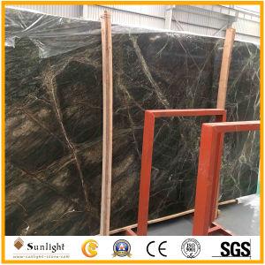 部屋の床のための自然な熱帯熱帯雨林の緑の大理石の石のフロアーリング