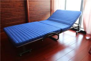 Cama futón japonés de alta calidad con reposabrazos y las ruedas.