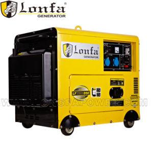 6kw 10HP Draagbare Diesel Stille Generator met Wielen