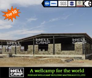 Estructura de acero Wellcamp Material de construcción resistente al agua de la erección