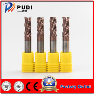 O carboneto de sólido HRC55 4 flautas de ferramentas de corte