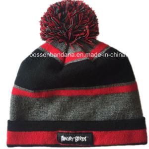工場OEM農産物によってカスタマイズされるデザインアクリルの編まれたジャカード帽子の帽子