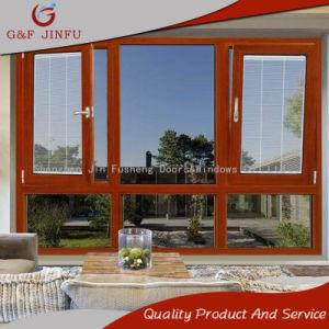 Американский стиль из алюминия и стекла дверная рама перемещена окно со встроенным жалюзи