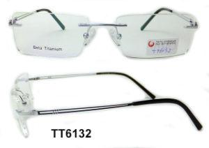 Het Optische Frame van het Titanium van de manier voor de Menigte van de Bijziendheid (TT 6132)