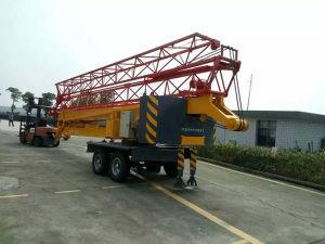 Max. Lading 2 Ton 28m van de Componenten van Schneider van de Generator van Cummins 30kw Elektrische Zelf het Oprichten van de Lengte van de Kraanbalk Diesel en de Elektrische Vouwbare Mobiele Kraan van de Toren
