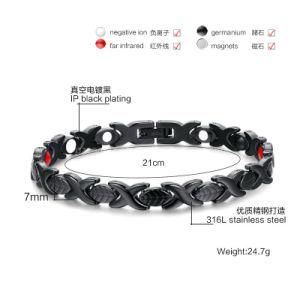 Schwarzes Armband der Gesundheits-Chc-B06 mit Oppbag, Soem Ihr Firmenzeichen