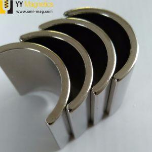 Magnete permanente dell'arco del neodimio industriale per il motore