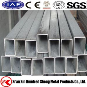 Un quadrato d'acciaio galvanizzato tuffato caldo da 60 x 60 millimetri e tubi rettangolari per mobilia