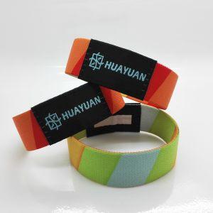 RFIDのカスタムロゴの印刷MIFARE標準的なEV1 1Kの伸縮性がある祝祭によって編まれるブレスレット