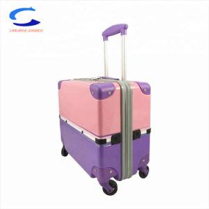 OEM de la fábrica de peso de la luz de la moda 14'' rosa inteligente de bloqueo de seguridad de la TSA maleta TROLLEY maletas de viaje y compras