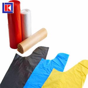 편평한 바닥 롤에 플라스틱 HDPE/LDPE 쓰레기 봉지