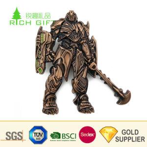 Fabricante China Custom estampado hierro latón antiguo de la placa de metal chapado en insignia para promoción