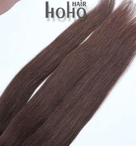 12 Menselijke Haar van het Uiteinde Prebonded van de duim het Maagdelijke Gekleurde