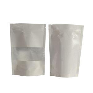 Joint de la chaleur fait sur mesure en aluminium sachet en plastique Sac en plastique de couleur crème faciale douce
